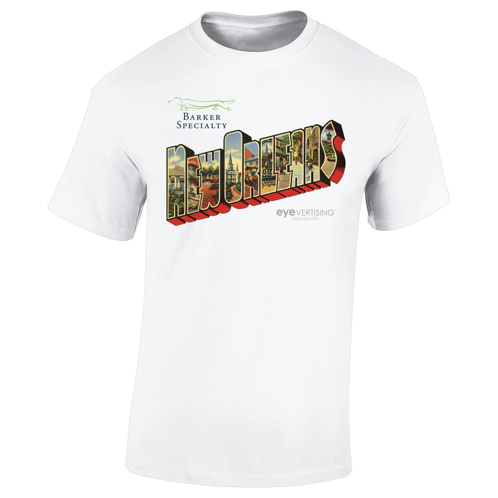 "3600-L12 - T-Shirt - Full-Color On White/Very Light T-Shirt (Up To 12"" x 12"")"