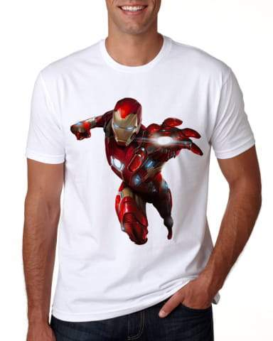 "3600-L14 - T-Shirt - Full-Color On White/Very Light T-Shirt (Up To 14"" x 14"")"