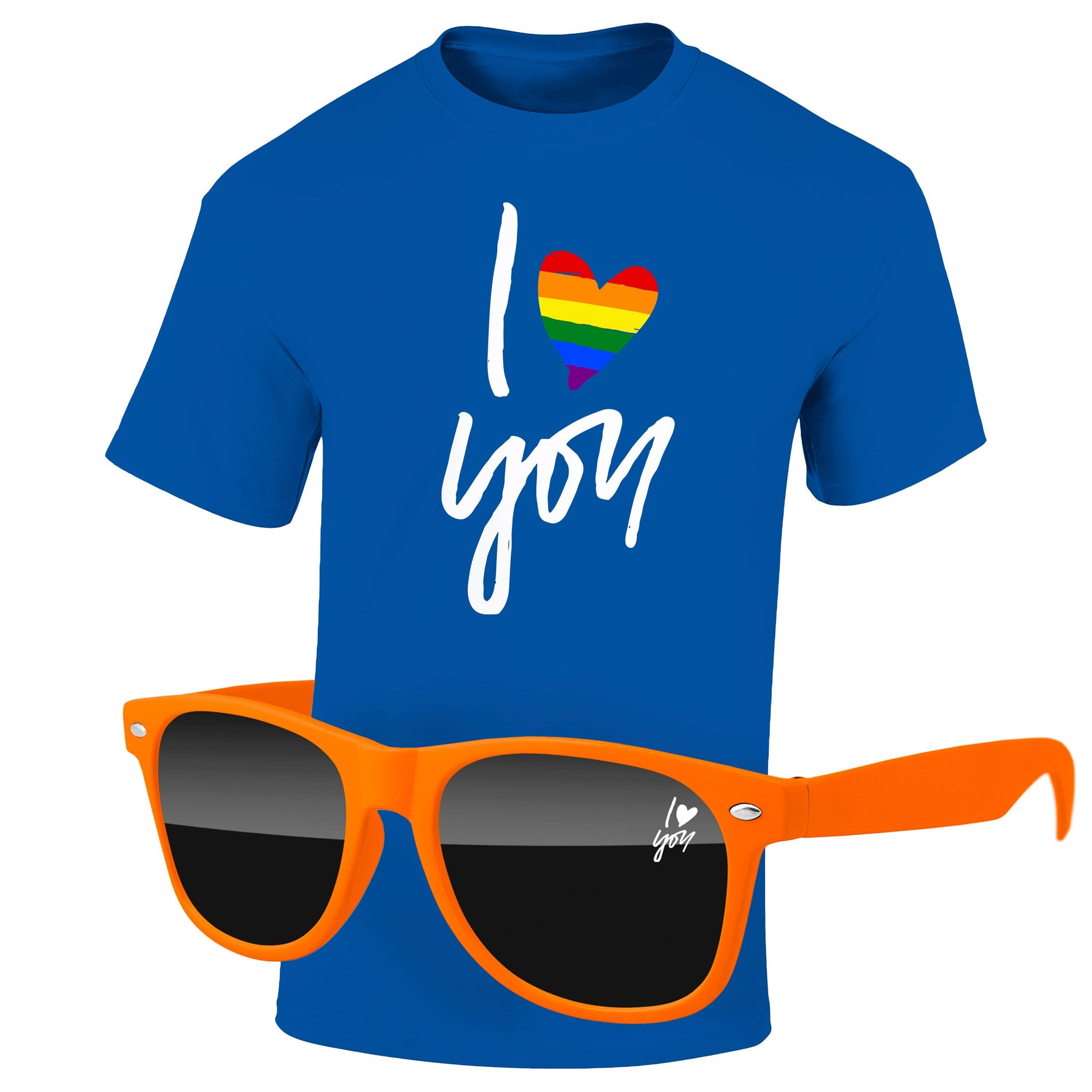 "4980-1KD12 - Pride T-Shirt & Sunglasses Kit - Full-Color On Color/Black T-Shirt (Up To 12""x12"")"