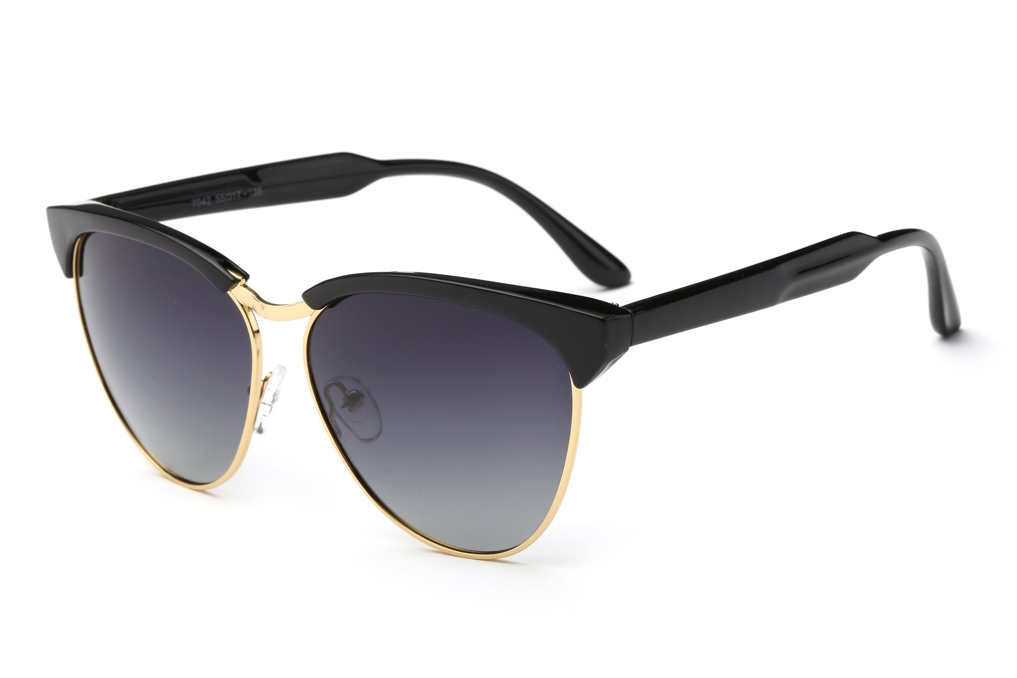 9904 - Teardrop Shaped Gradient Lens Retro Club Sunglasses