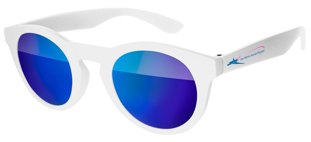 DM020 - Andy Mirror Promotional Sunglasses w/ full-color temple imprint