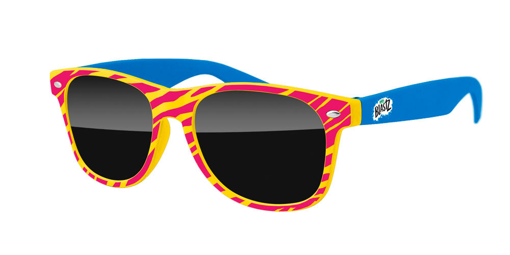 RD032 - 2-tone Retro Promotional Sunglasses w/ 1-color extended temple imprint