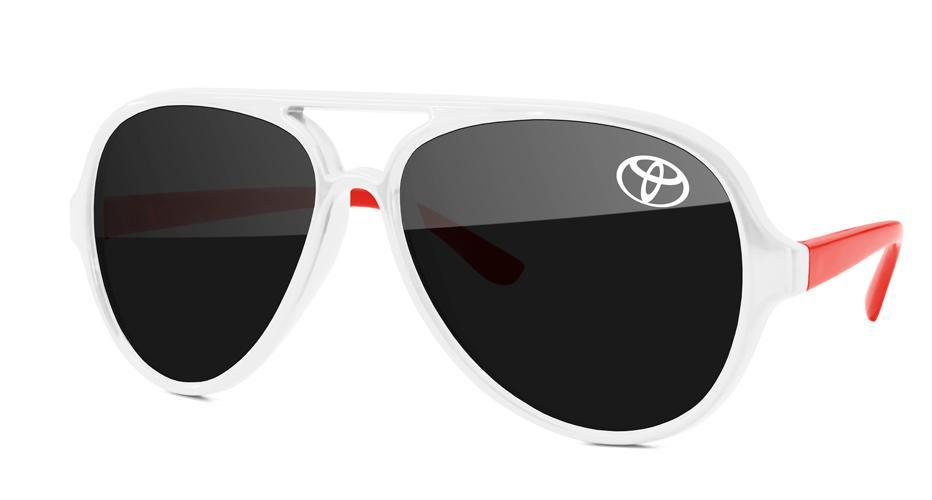 AD012 - 2-tone Aviator Promotional Sunglasses w/ 1-color temple imprint