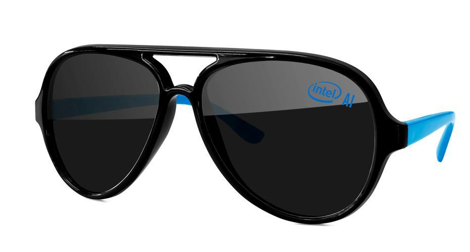 AD502 - 2-tone Aviator Promotional Sunglasses w/ 1-color lens imprint