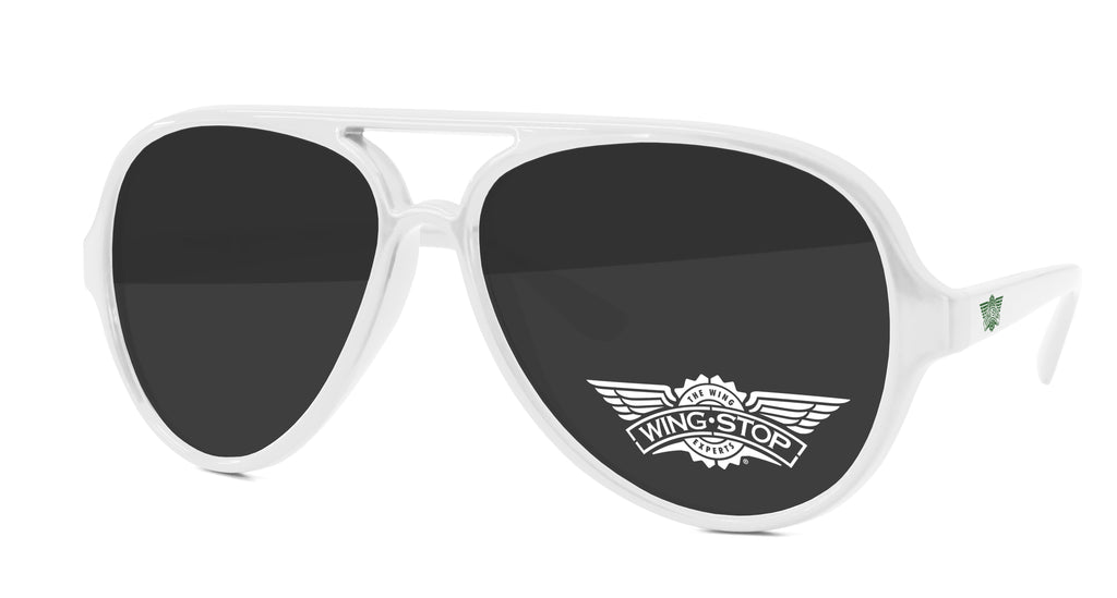 AD510 - Aviator Promotional Sunglasses w/ 1-color lens & temple imprints
