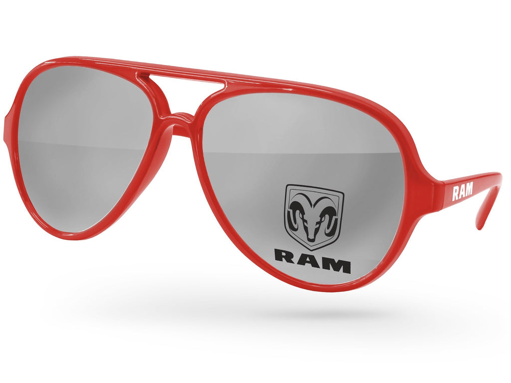 AM510 - Aviator Mirror Promotional Sunglasses w/ 1-color lens & 1-color arm Imprint