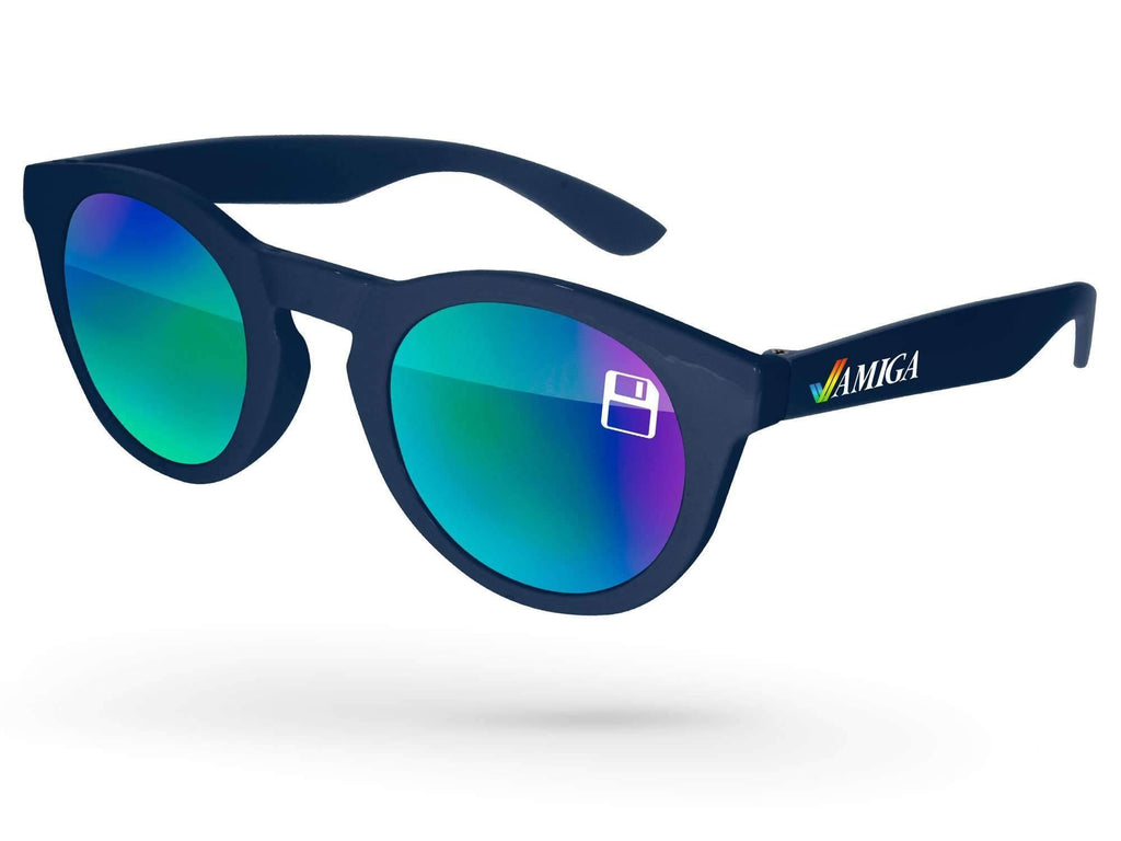 Andy Mirror Promotional Sunglasses w/ 1-color lens imprint & full-color temple imprint