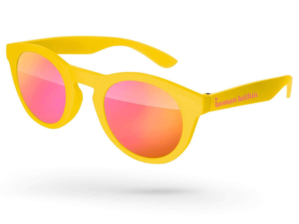 DM010 - Andy Mirror Promotional Sunglasses w/ 1-color temple imprint
