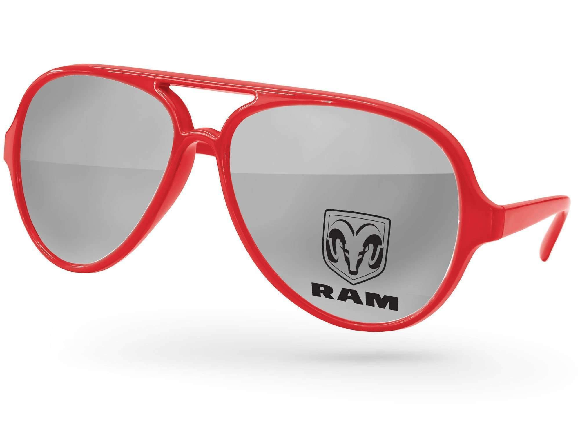 AM500 - Aviator Mirror Promotional Sunglasses w/ 1-color lens imprint