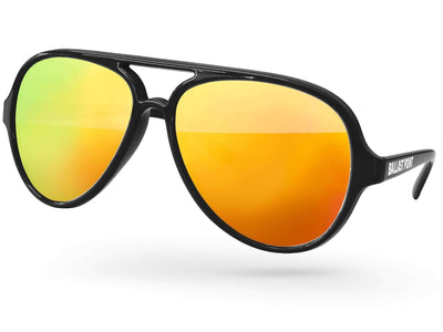Aviator Mirror Promotional Sunglasses w/ 1-color temple imprint
