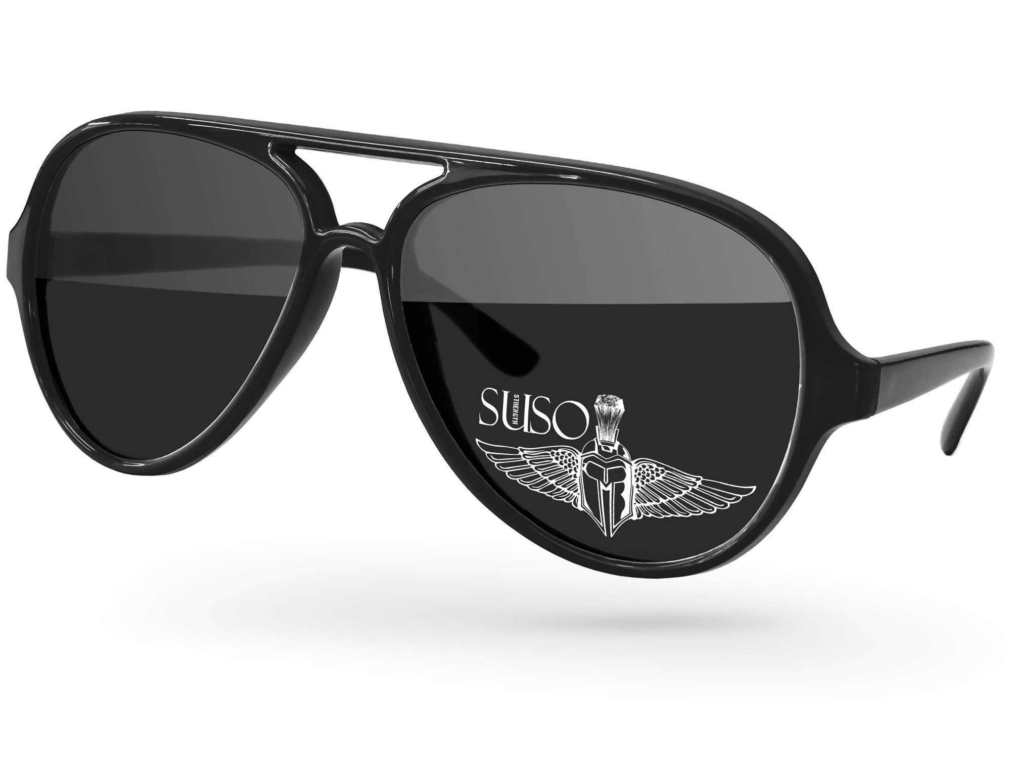 AD500 - Aviator Promotional Sunglasses w/ 1-color lens imprint