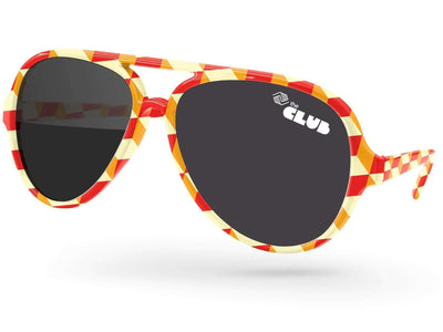Aviator Promotional Sunglasses w/ 1-color lens imprint & full-color full-frame sublimation wrap