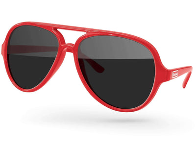 Aviator Promotional Sunglasses w/ 1-color temple imprint