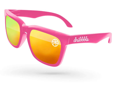 Bold Mirror Promotional Sunglasses w/ 1-color lens & temple imprints