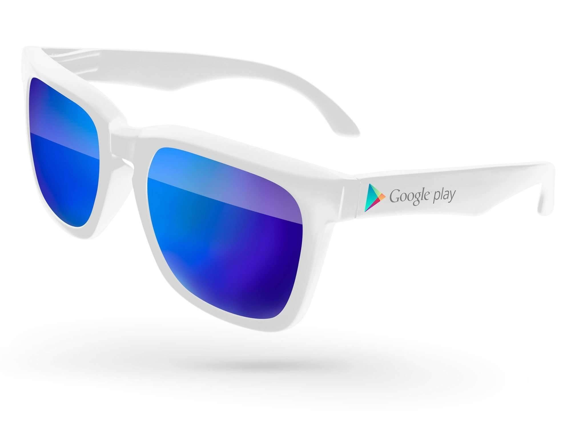 Bold Mirror Promotional Sunglasses w/ full-color temple imprint