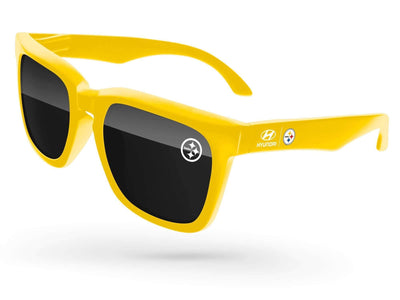 Bold Promotional Sunglasses w/ 1-color lens imprint & full-color temple imprint