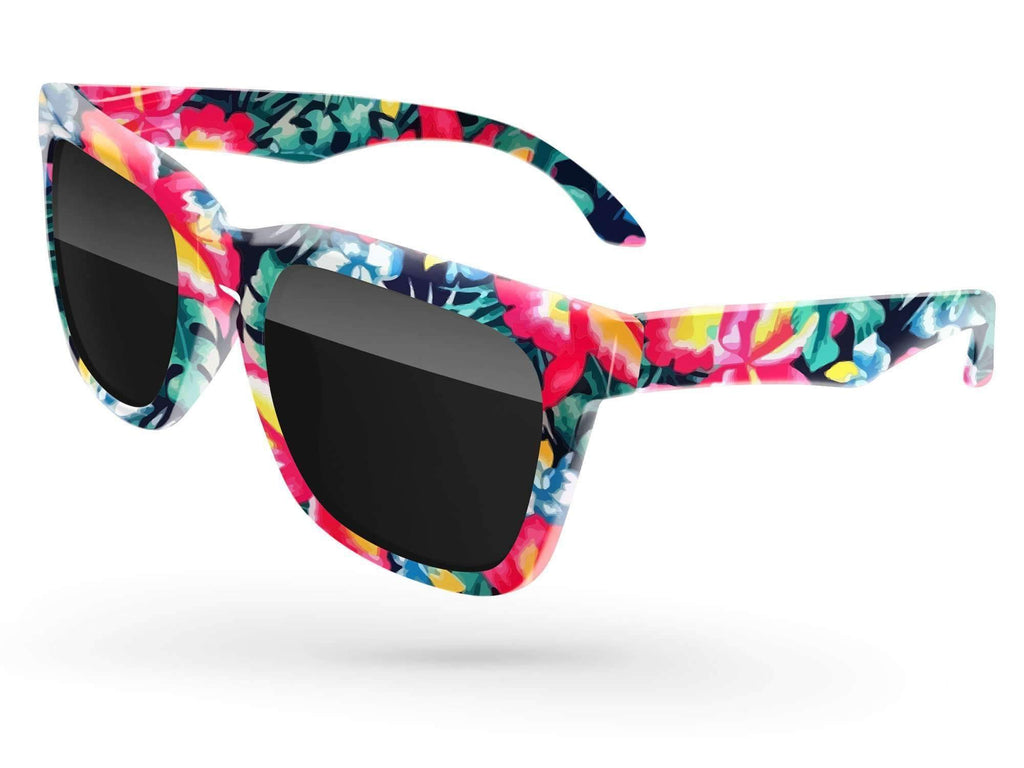 BD090 - Bold Promotional Sunglasses w/ full-color full-frame sublimation wrap