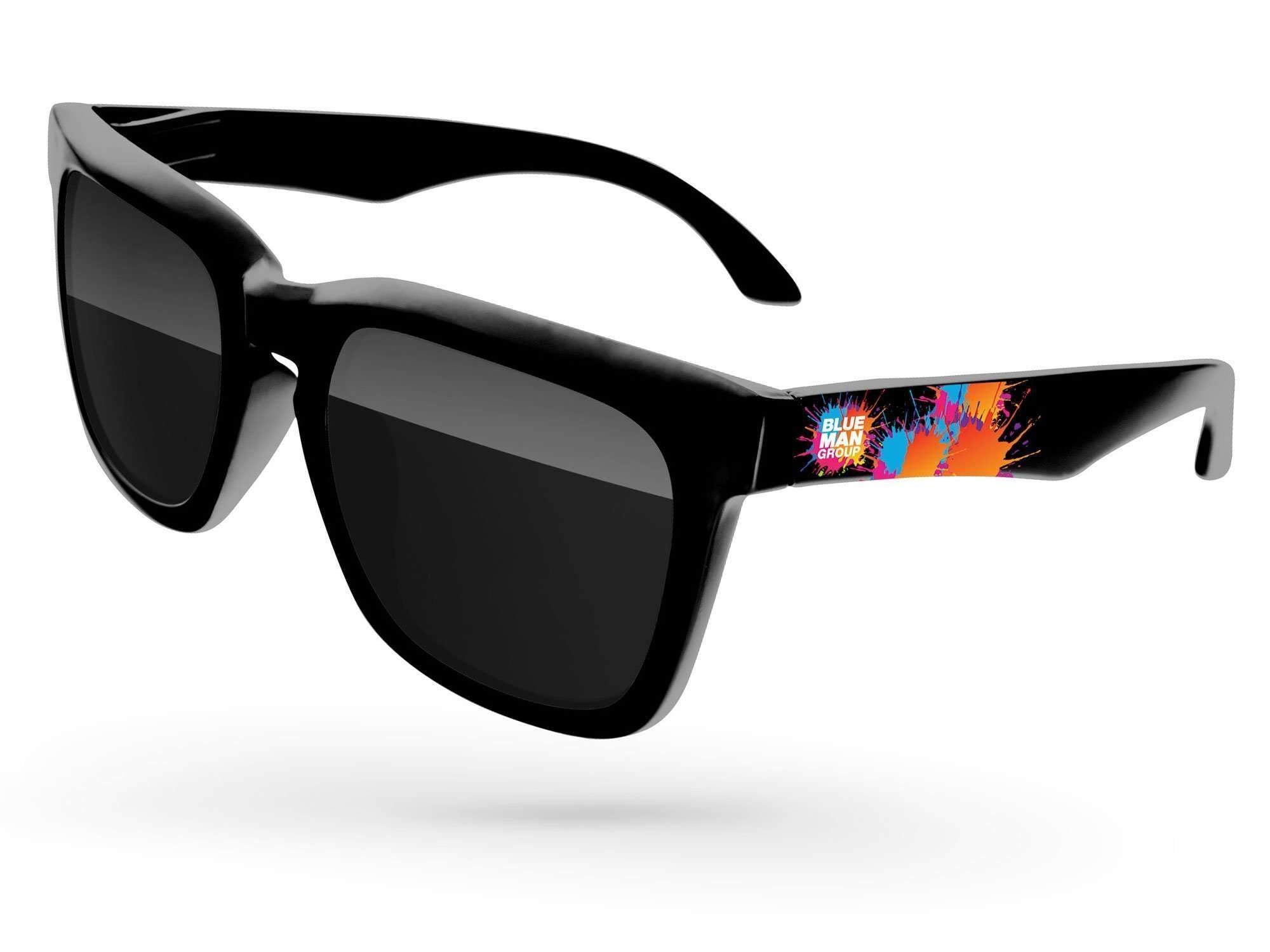 Bold Promotional Sunglasses w/ full-color temple imprint