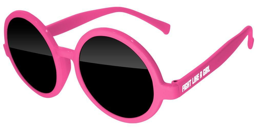 Breast Cancer Awareness Iris Promotional Sunglasses w/ 1-color temple imprint
