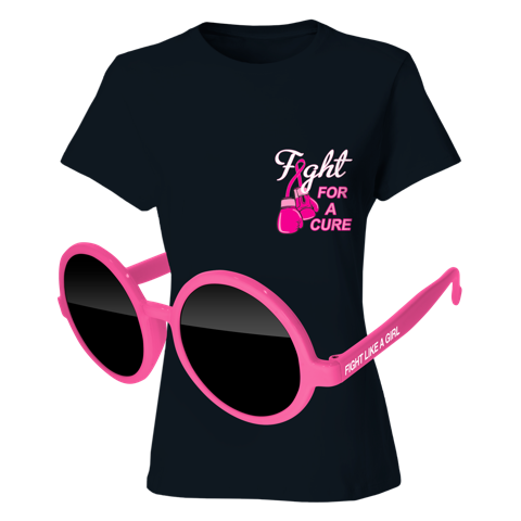 Ladies T-Shirt & Sunglasses Kit - Full-Color On Black T-Shirt (Up To 5x5in)