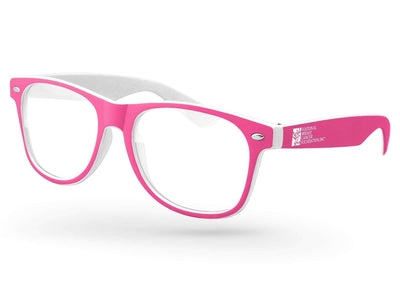 Breast Cancer Awareness Retro Promotional Sunglasses w/ 1-color temple imprint