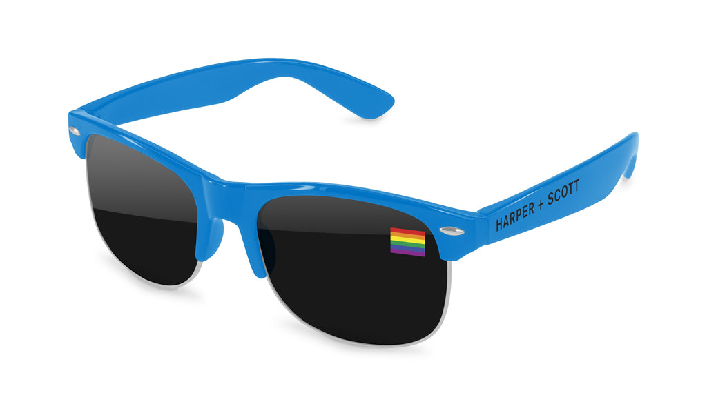 CD710 - Pride Club Promotional Sunglasses w/ full-color lens imprint