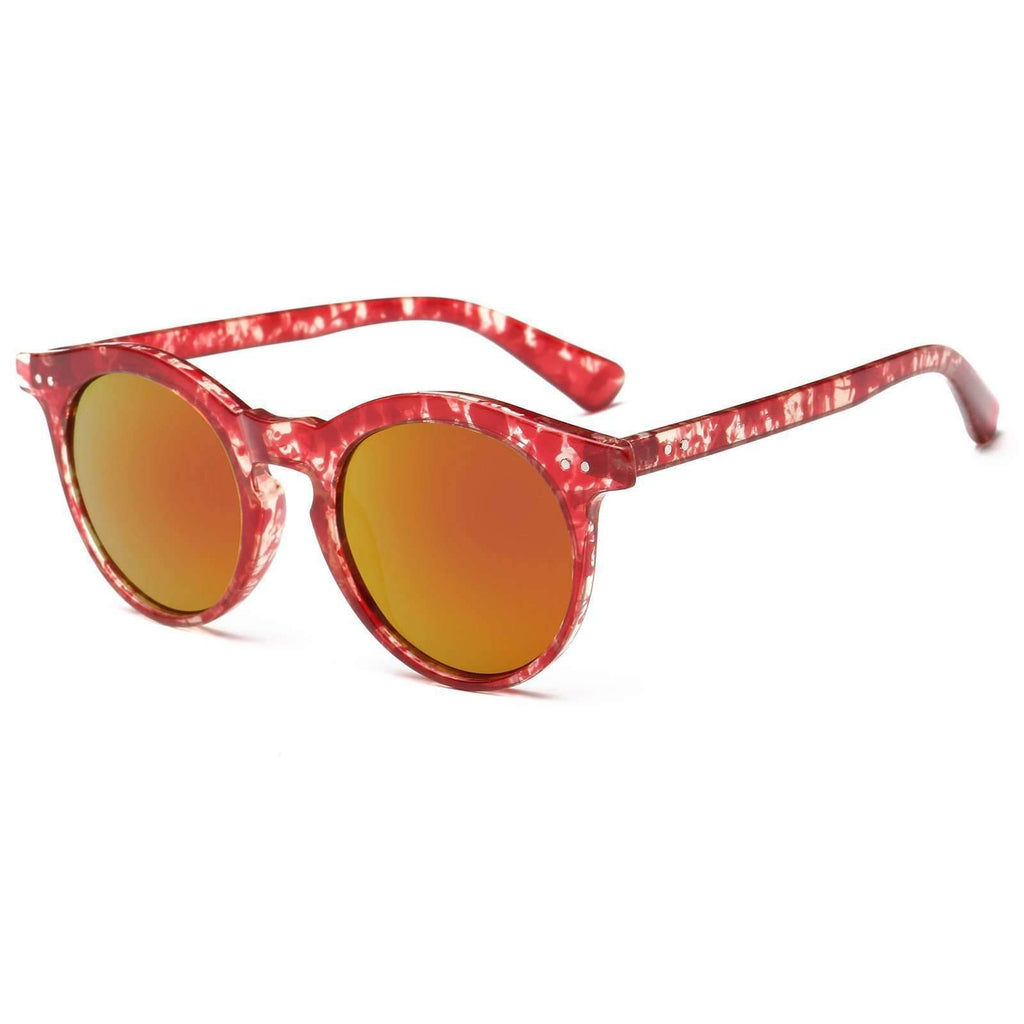 Chic Oversized Mirrored Keyhole Sunglasses