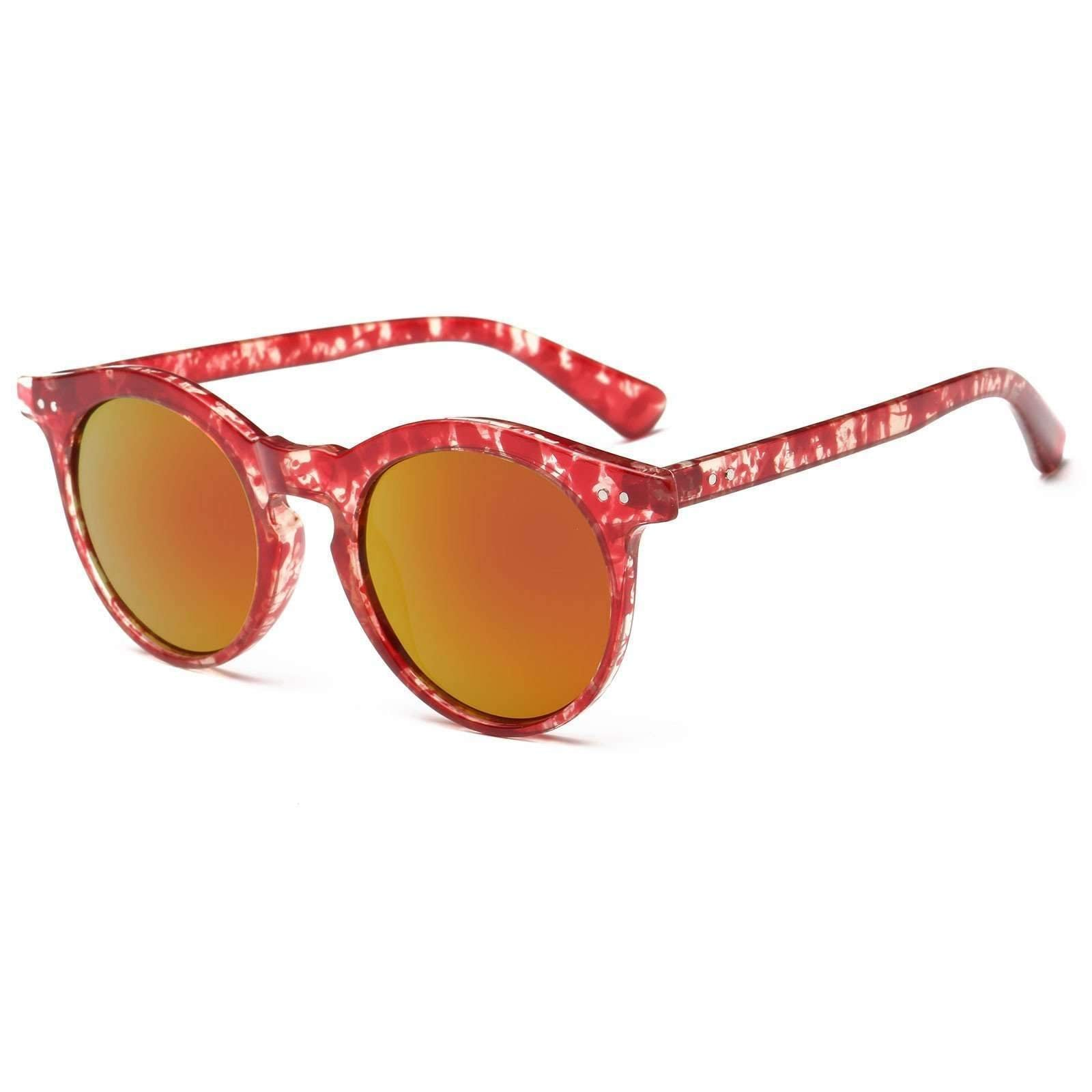 7055 - Chic Oversized Mirrored Keyhole Sunglasses