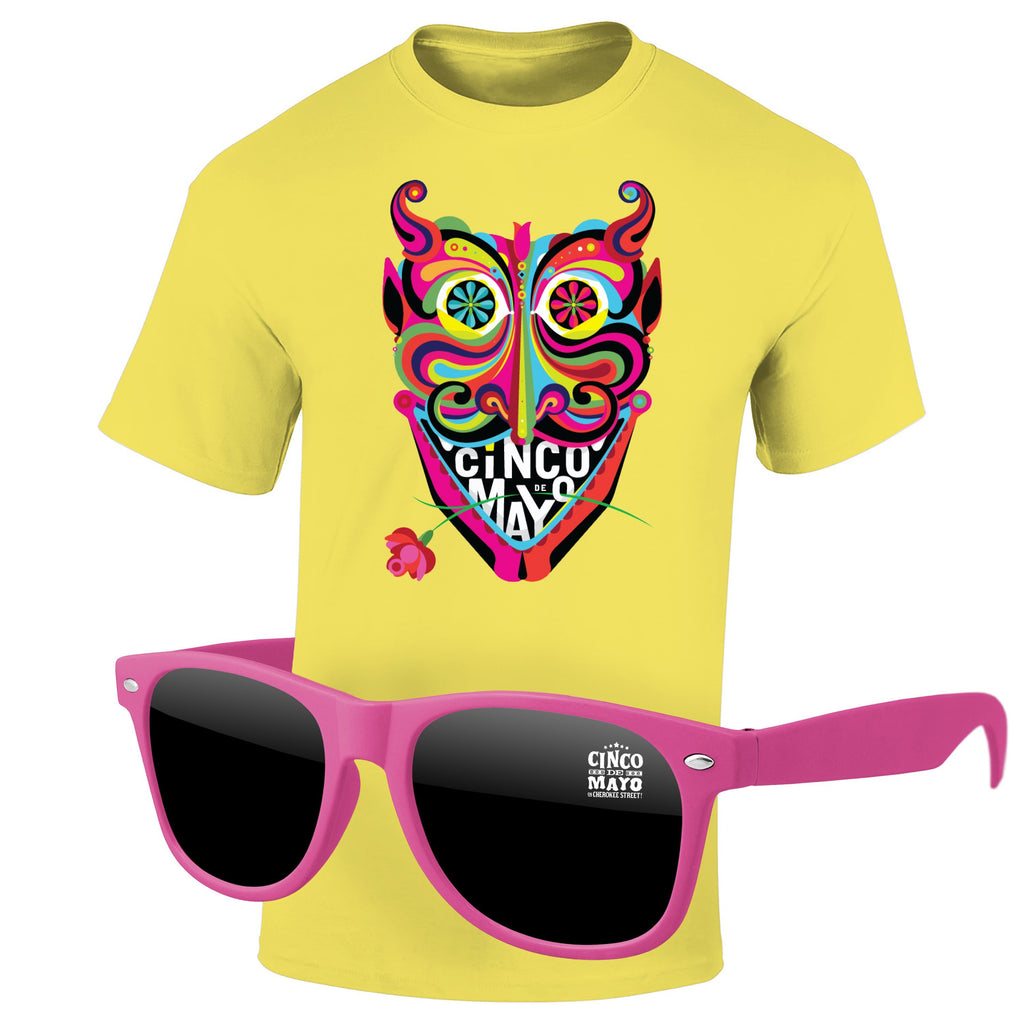 Cinco de Mayo 4980-1KD12 - T-Shirt & Sunglasses Kit - Full-Color On Color/Black T-Shirt (Up To 12x12in)