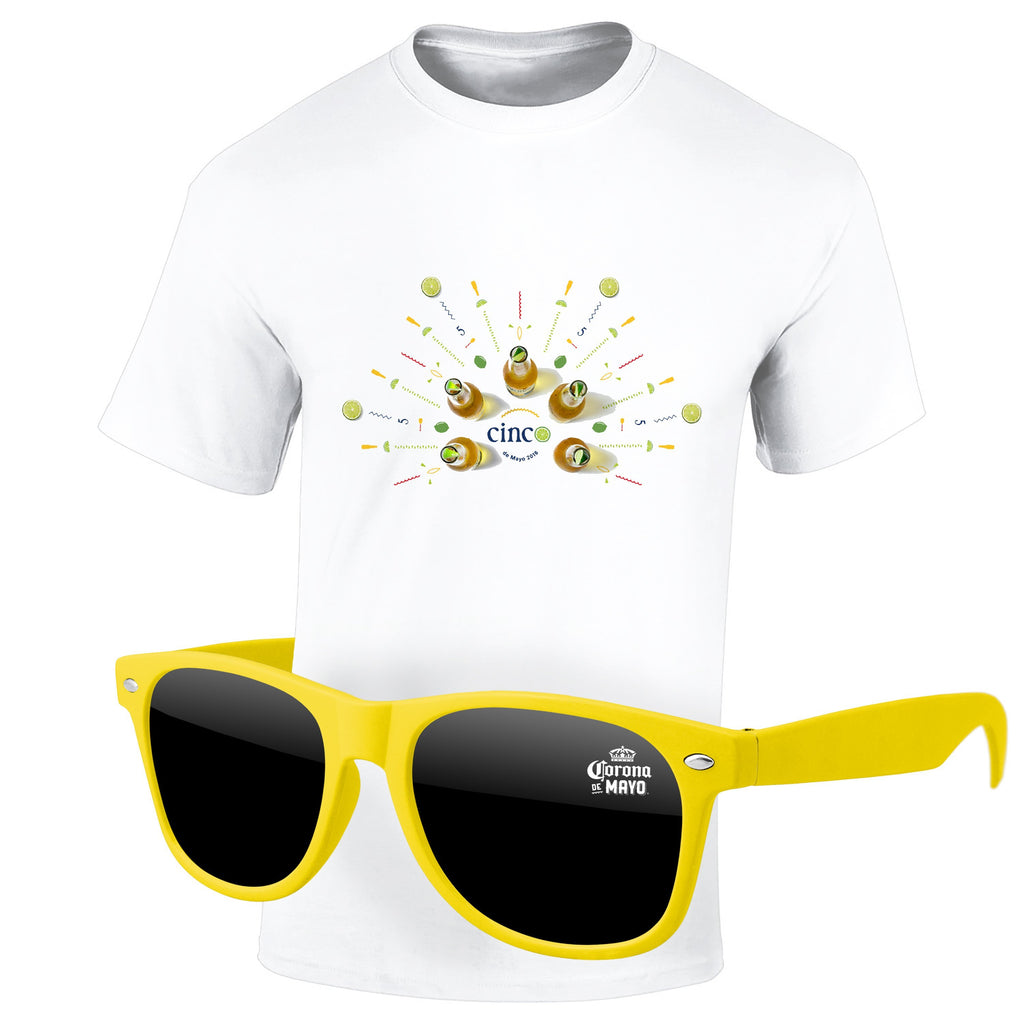 Cinco de Mayo 4980-1KL12 - T-Shirt & Sunglasses Kit - Full-Color On White/Very Light T-Shirt (Up To 12x12in)