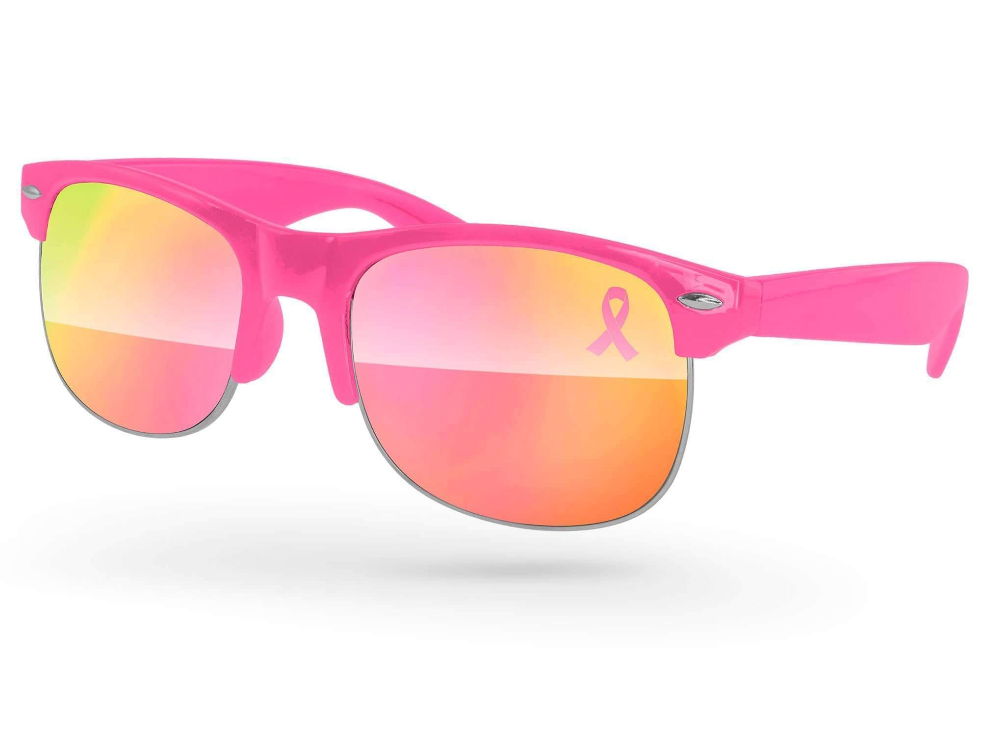 Club Mirror Promotional Sunglasses w/ 1-color lens imprint