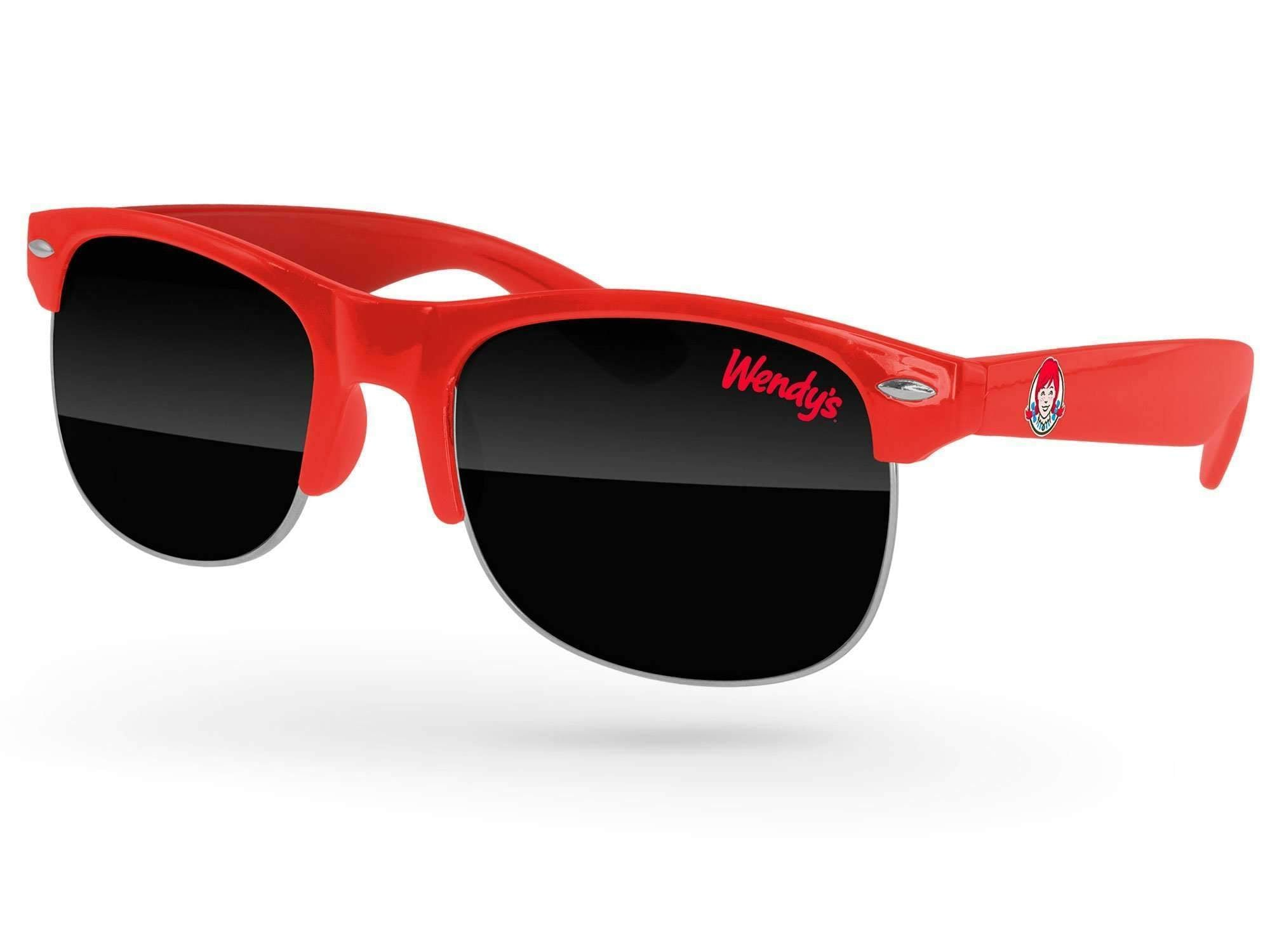 Club Promotional Sunglasses w/ 1-color lens imprint & full-color temple imprint