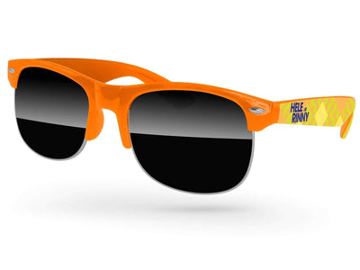 Club Promotional Sunglasses w/ full-color arms heat transfer