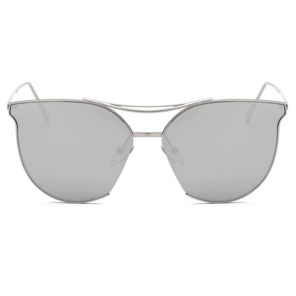 6609 - Contemporary Cat Eye Gradient Lens Sunglasses