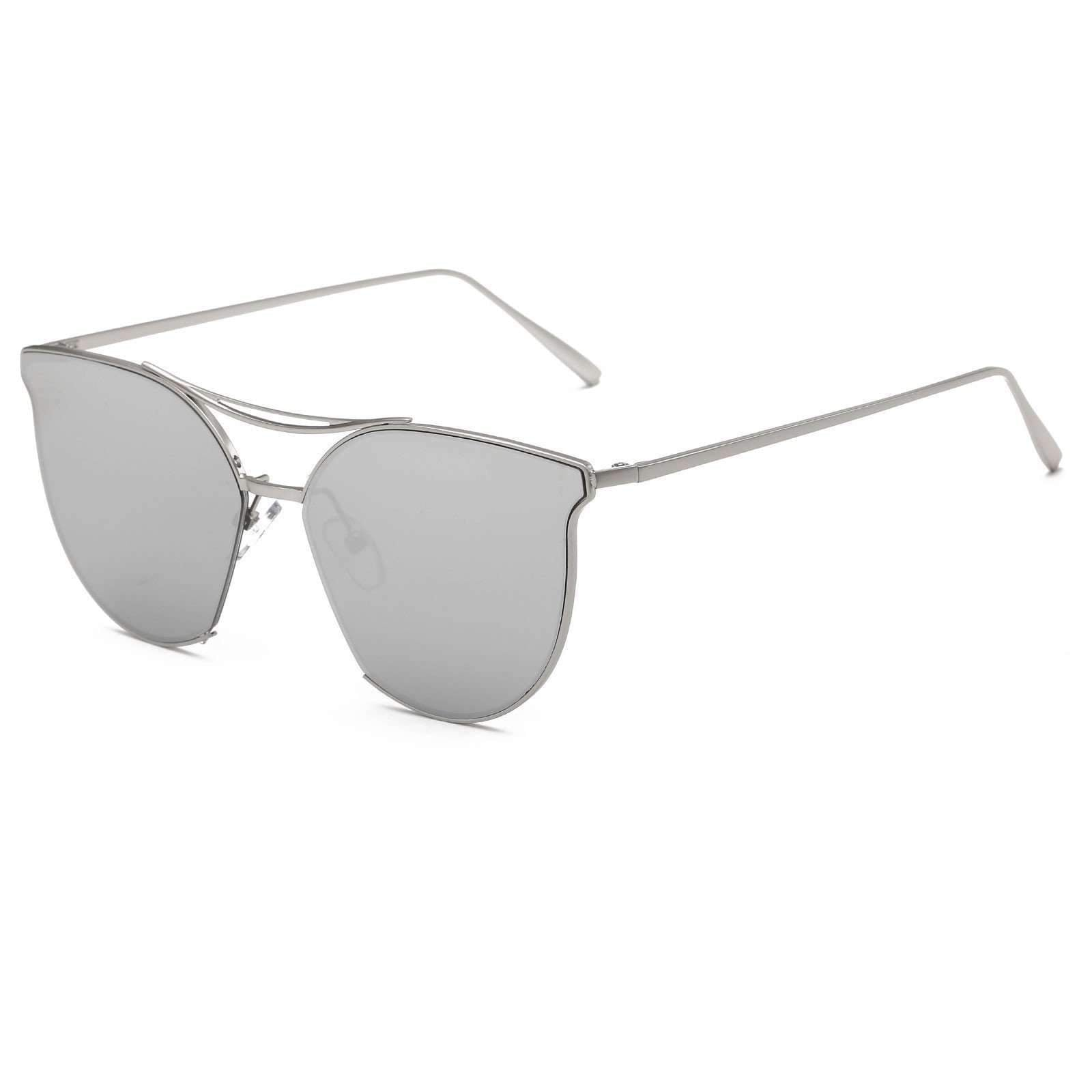 Contemporary Cat Eye Gradient Lens Sunglasses