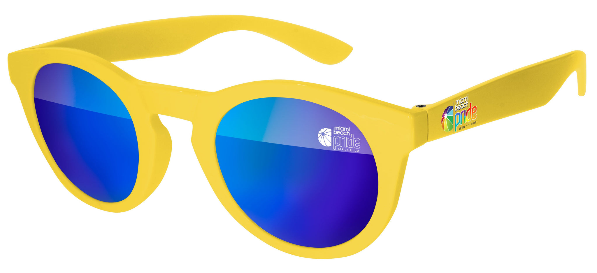 DM520 - Pride Andy Mirror Promotional Sunglasses w/ 1-color lens imprint & full-color temple imprint