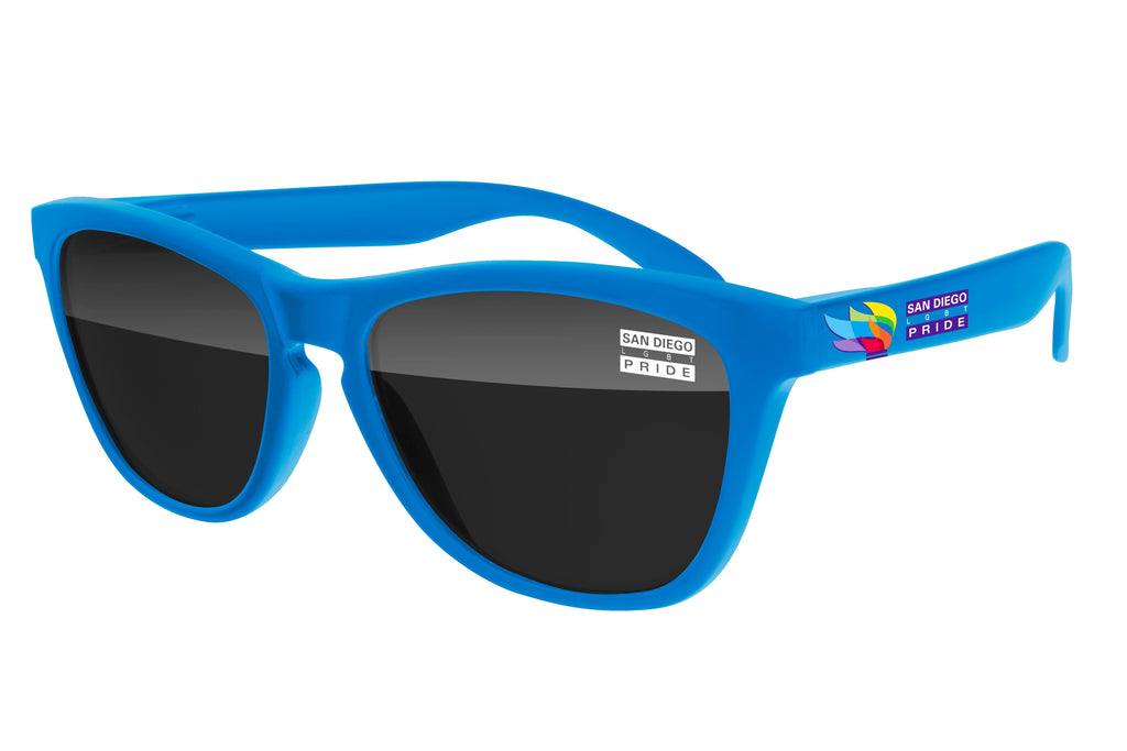 FD520 - Pride Frog Promotional Sunglasses w/ 1-color lens imprint & full-color temple imprint