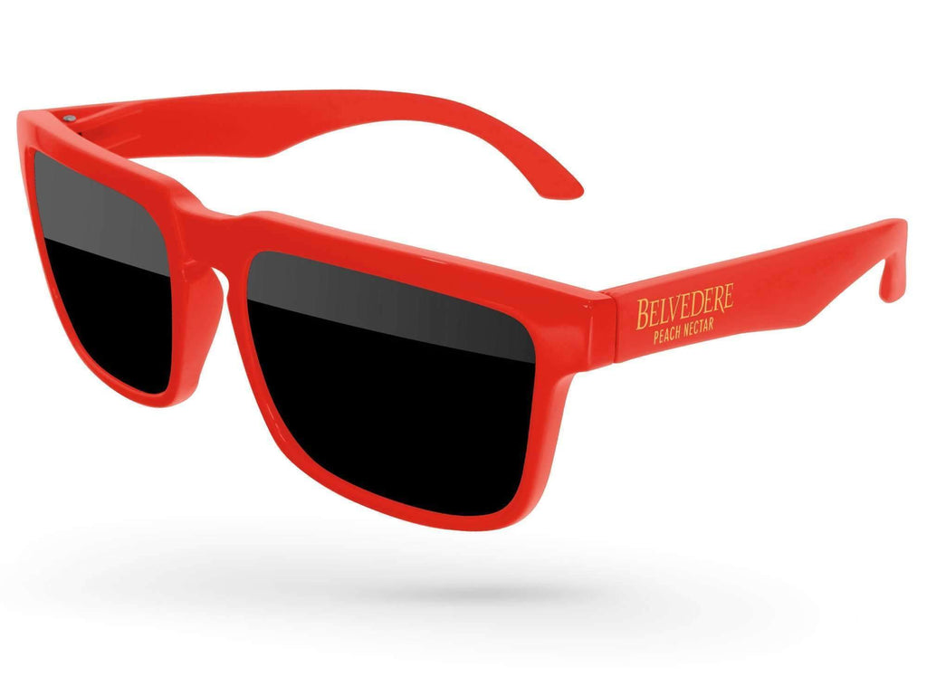 Food & Beverage - Heat Promotional Sunglasses w/ 1-color temple imprint