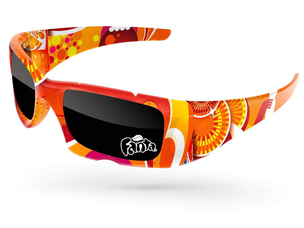 Food & Beverage - Wrap Promotional Sunglasses w/ 1-color lens imprint & full-color full-frame sublimation wrap