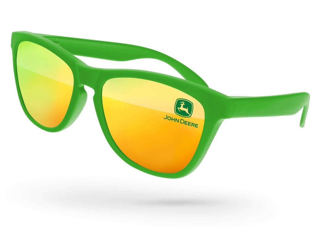 Frog Mirror Promotional Sunglasses w/ 1-color lens imprint