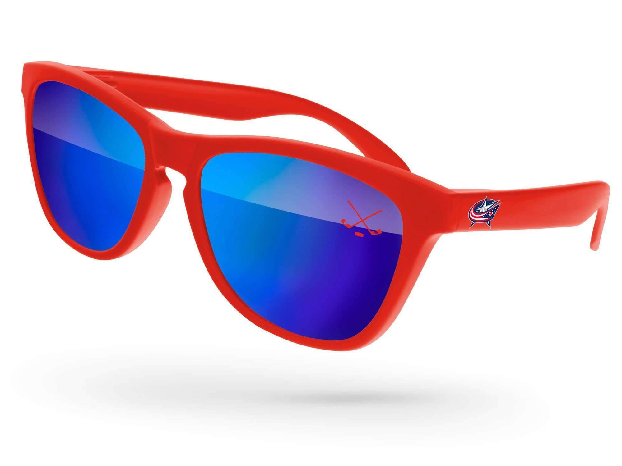 Frog Mirror Promotional Sunglasses w/ 1-color lens imprint & full-color temple imprint