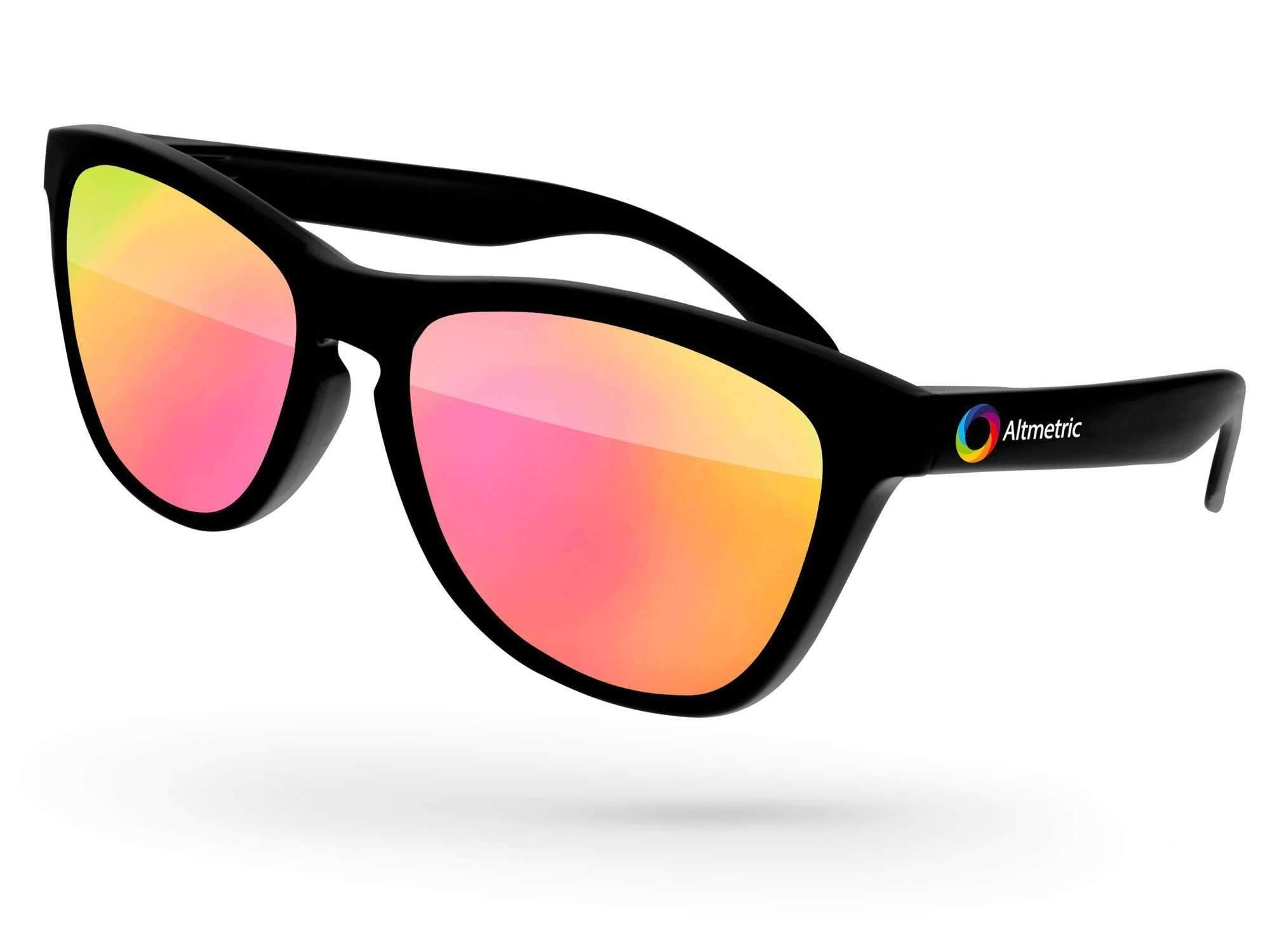 Frog Mirror Promotional Sunglasses w/ full-color temple imprint