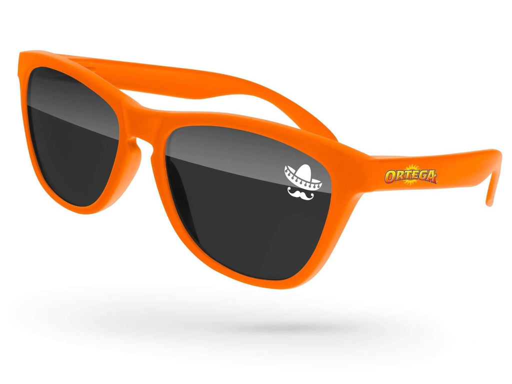 FD520 - Frog Promotional Sunglasses w/ 1-color lens imprint & full-color temple imprint