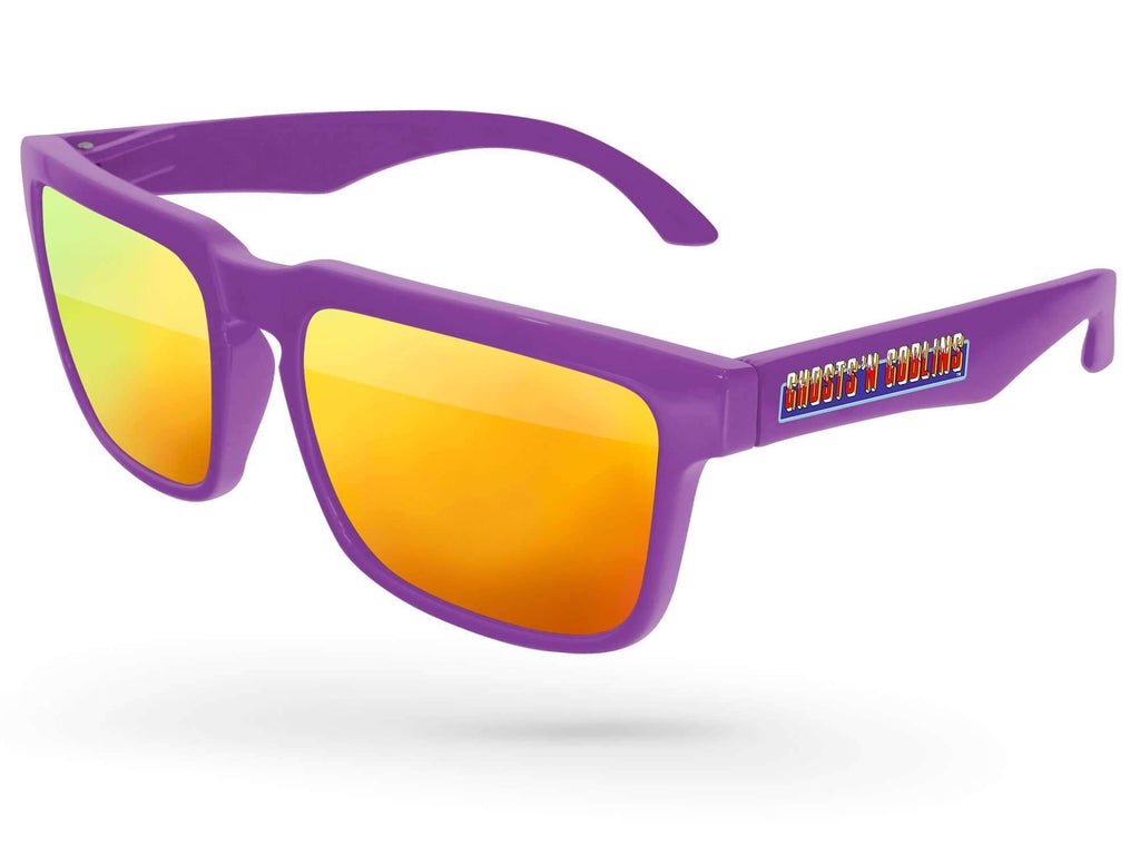 HM020 - Heat Mirror Promotional Sunglasses w/ full-color temple imprint
