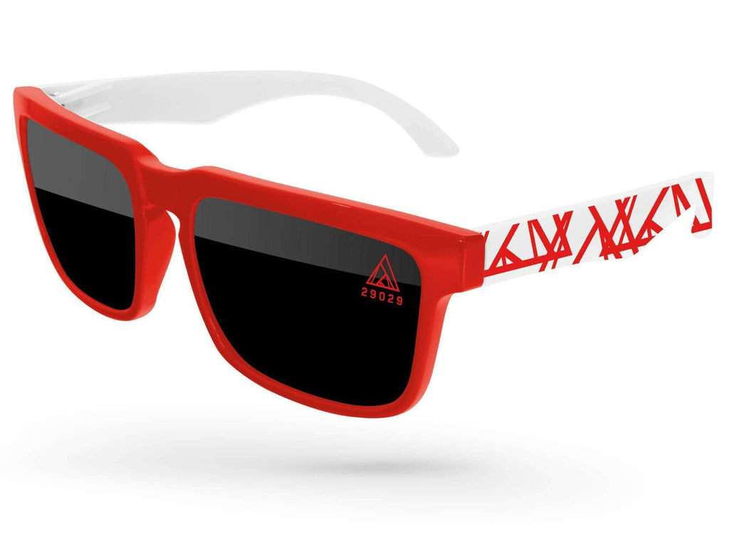 HD532 - Heat Promotional Sunglasses w/ 1-color lens imprint & 1-color extended arm imprint