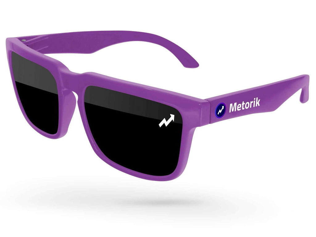 HD520 - Heat Promotional Sunglasses w/ 1-color lens imprint & full-color temple imprint