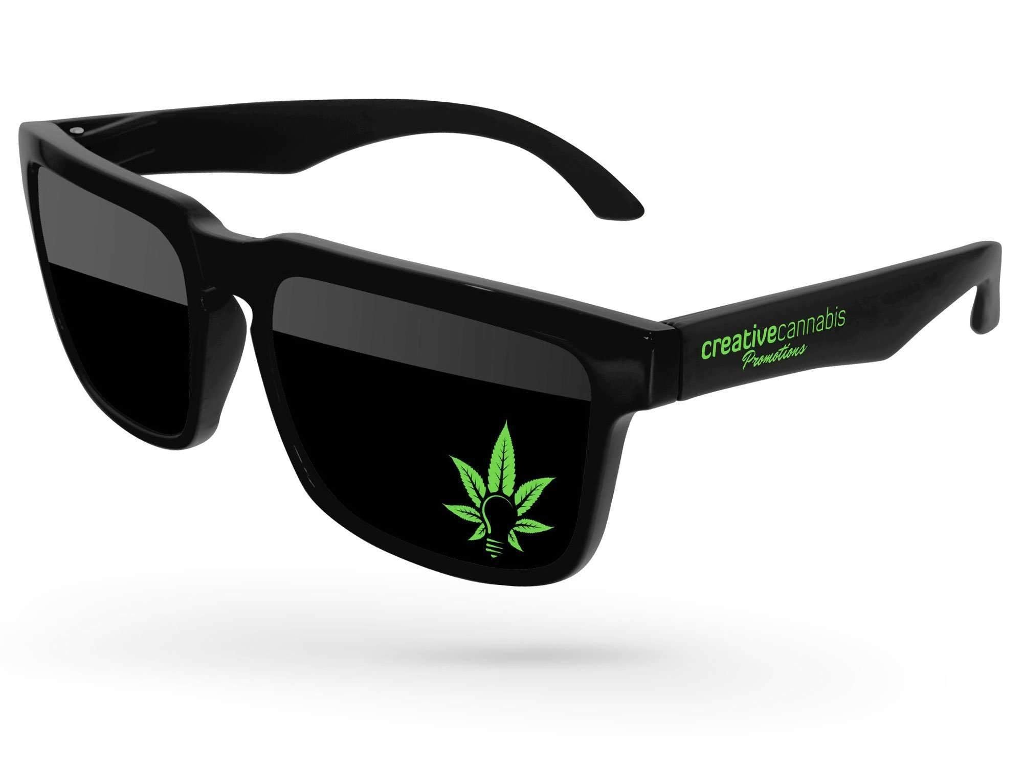 Heat Promotional Sunglasses w/ 1-color lens & temple imprints