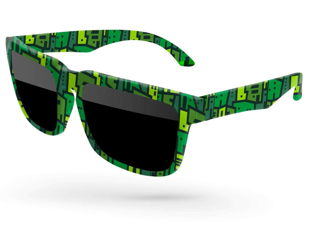 Heat Promotional Sunglasses w/ full-color full-frame sublimation wrap
