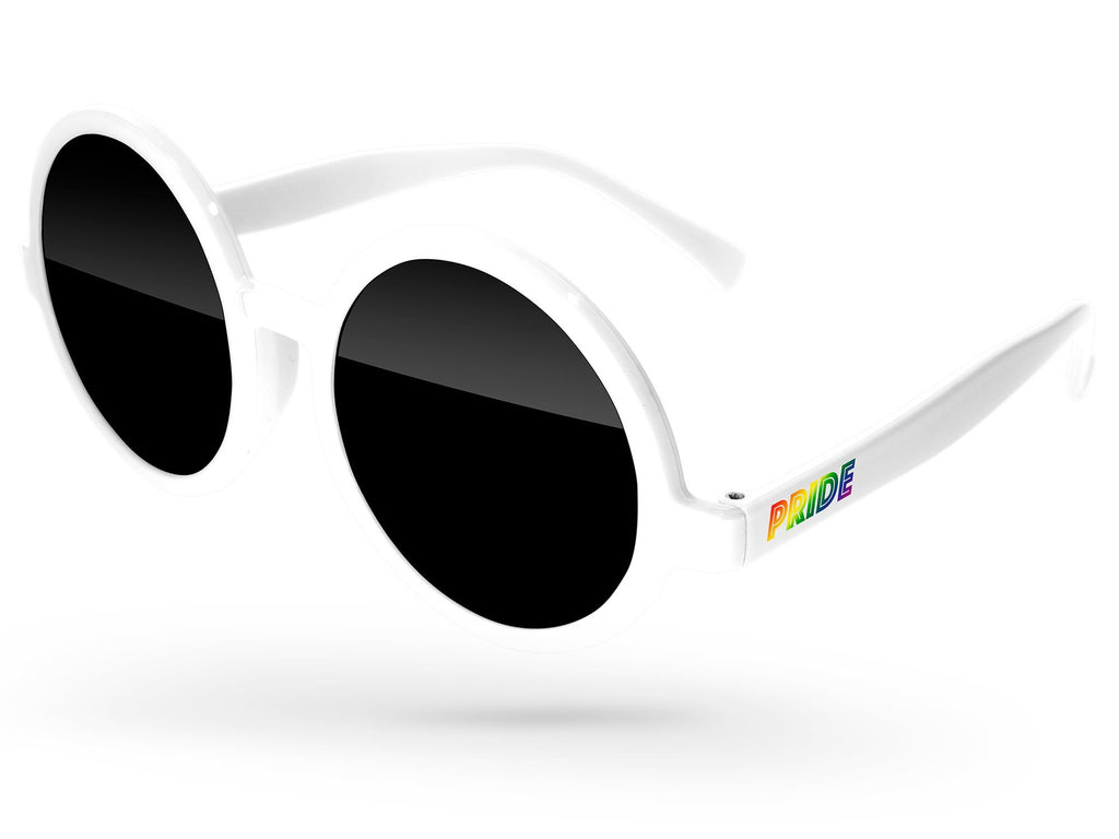 ID020 - Pride Iris Promotional Sunglasses w/ full-color temple imprints