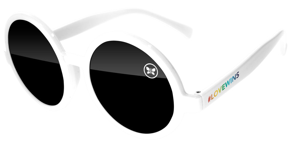 ID520 - Pride Iris Promotional Sunglasses w/ 1-color lens & temple imprints